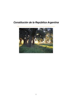 LA CONSTITUCIÓN REPÚBLICA ARGENTINA
