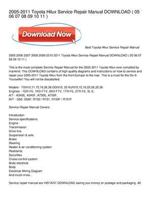 toyota service manual pdf download