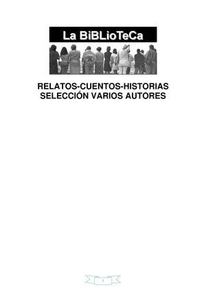 VARIOS AUTORES RELATOS CUENTOS HISTORIAS