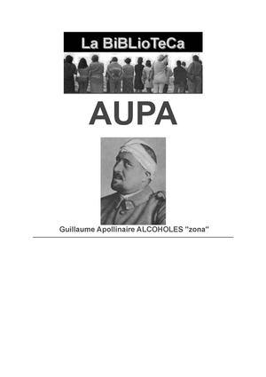 "Guillaume Apollinaire ALCOHOLES ""ZONA"""