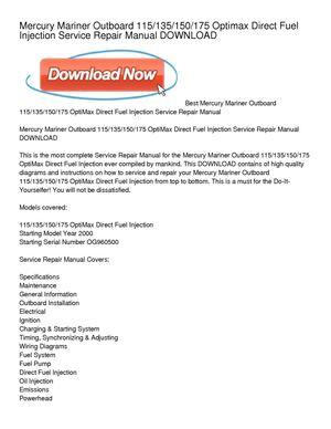 mercury optimax 135 service manual