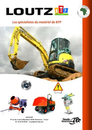 Loutz BTP - Catalogue Export 2013