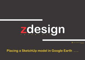 Placing a SketchUp model in Google