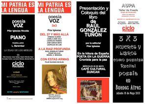 PROGRAMA RECITALES Y LIBROS MÁS LIBROS 2013