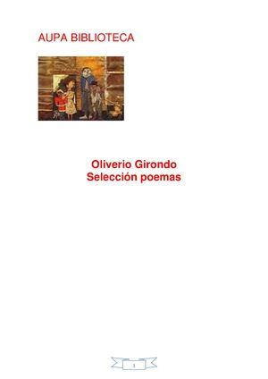 OLIVERIO GIRONDO SELECCIÓN POEMAS