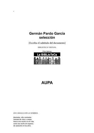 GERMAN PARDO GARCÍA SELECCIÓN