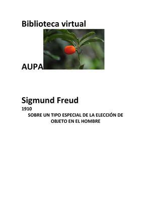 29_SIGMUND FREUD_UN TIPO ESPECIAL EN LA ELECCION DE OBJETO EN EL HOMBRE
