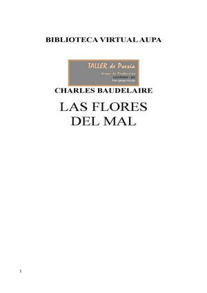 Baudelaire Charles Las Flores Del Mal.