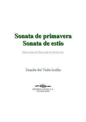 Valle Inclan Ramon Del - Sonata De Primavera - Sonata De Estio