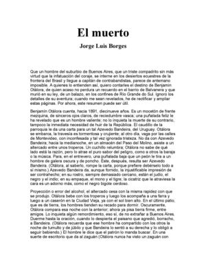 Jorge Luis Borges - El muerto