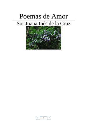 SOR JUANA INES DE LA CRUZ- Poemas De Amor