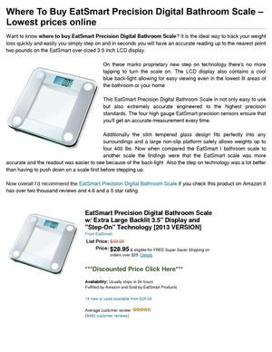 Where To Buy EatSmart Precision Digital Bathroom Scale – Lowest prices online