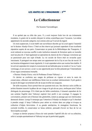 Le Collectionneur (de Suzanne Vanweddingen)