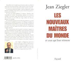 Jean Ziegler-Les Nouveaux maitres du monde et ceux qui leur resistent