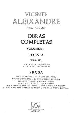 Aleixandre Vicente - Obras Completas 2 - Poesia