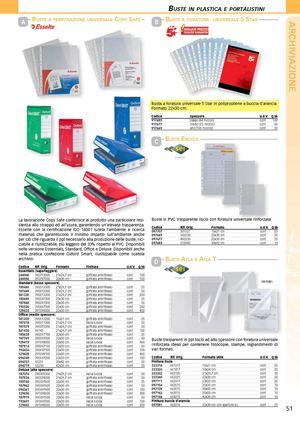 Calam o buste plastica forniture per ufficio for Forniture per ufficio