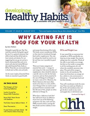 Developing Healthy Habits - August 2013