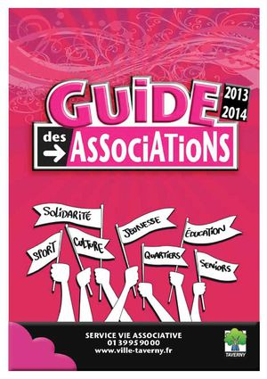 Guide des Associations 2013-2014 Taverny