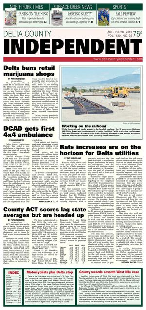 Delta County Independent, Aug. 28, 2013