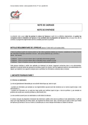 modele note administrative concours