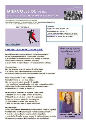 BOLETIN MIERCOLES DE POESIA N. 4