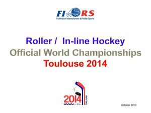 Bulletin # 1 about 2014 World In Line Hockey Championships
