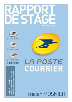 Calam o rapport stage poste for La poste demenagement suivi de courrier