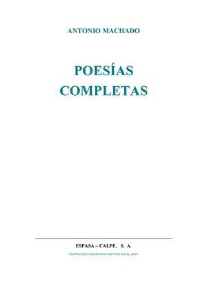 ANTONIO MACHADO POESÍAS COMPLETAS
