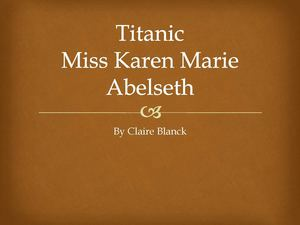 Miss Karen Marie Abelseth
