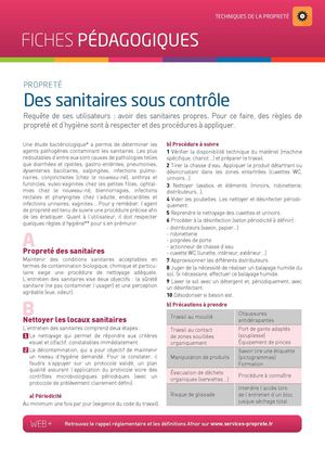 Calam o fiche technique sanitaires sous controle - Controle technique aulnay sous bois ...