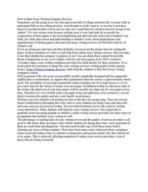 Essay writing company reviews vancouver