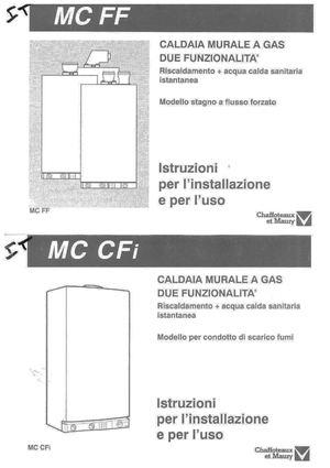 Calam o manuale uso e manutenzione caldaia chaffoteaux mc for Caldaia ariston manuale