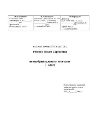 Рабочая программа по изо 4 класс перспектива