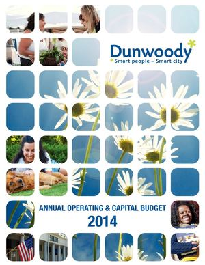 City of Dunwoody, GA FY2014 Annual Operating and Capital Budget