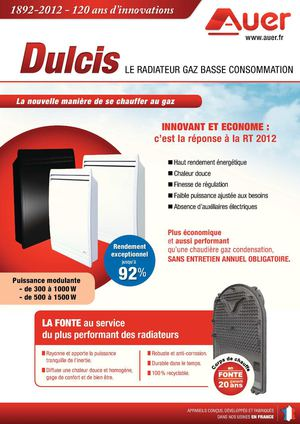 Calam o radiateur gaz basse consommation dulcis auer - Radiateur electrique basse consommation ...