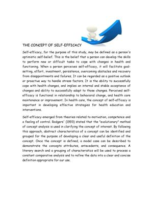 Essay - Self Efficacy and the Use of Alternative Medicine Practices