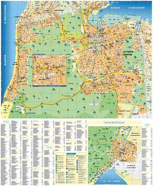 Calam o plan de ville 2014 la teste de buch pyla sur for Piscine la teste de buch
