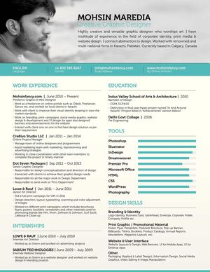 freelance graphic web designer resume mohsin fancy - Web Designer Resume
