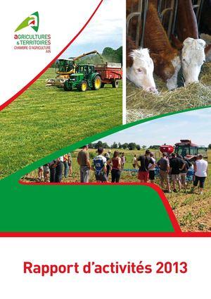 Calam o chambre d 39 agriculture de l 39 ain rapport d 39 activit 2013 - Chambre agriculture de l ain ...