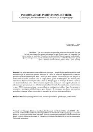 Artigos de psicopedagogia