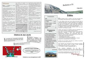 Le Bulletin de Manteyer Naturellement N°0