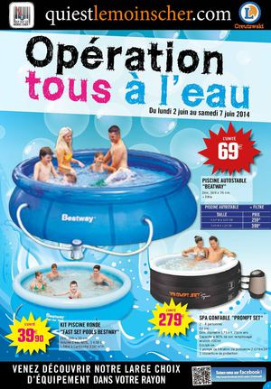 Piscine gonflable e leclerc for Piscine tubulaire leclerc