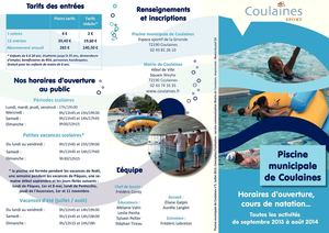 Calam o plaquette piscine 2013 2014 for Plaquette piscine