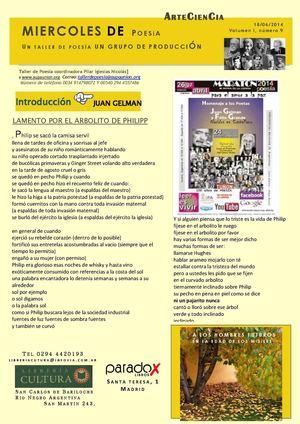 BOLETIN SEMANAL POESIA ARTECIENCIA N 9 18 JUNIO 2014