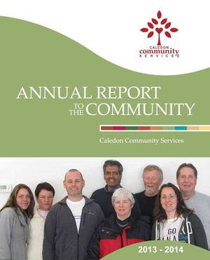 2013-2014 Caledon Community Services' Annual Report