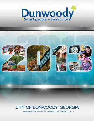City of Dunwoody 2013 Comprehensive Annual Financial Report
