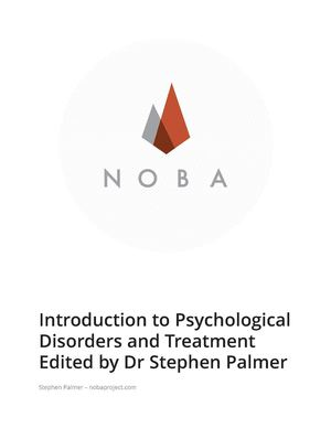 Introduction to Psychological Disorders and Treatment Edited by Prof Stephen Palmer