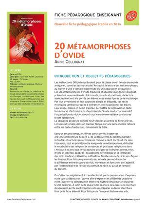 16 metamorphoses d ovide questionnaire