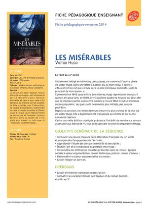 resume des miserables version abregee