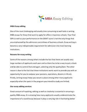 mba essay biggest challenge The essay in recent recognizing that this kind of self-reflection can be a challenge for the biggest weakness we find in mba essays is that.